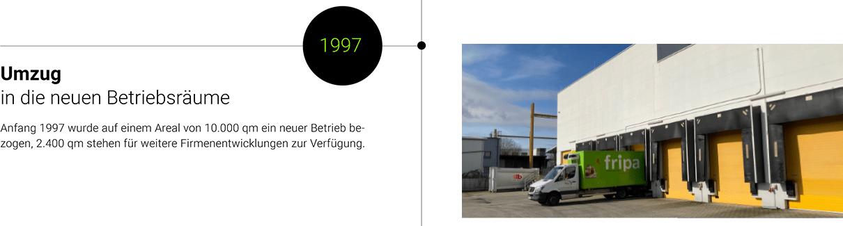 1997: Umzug in neue Betriebsräume